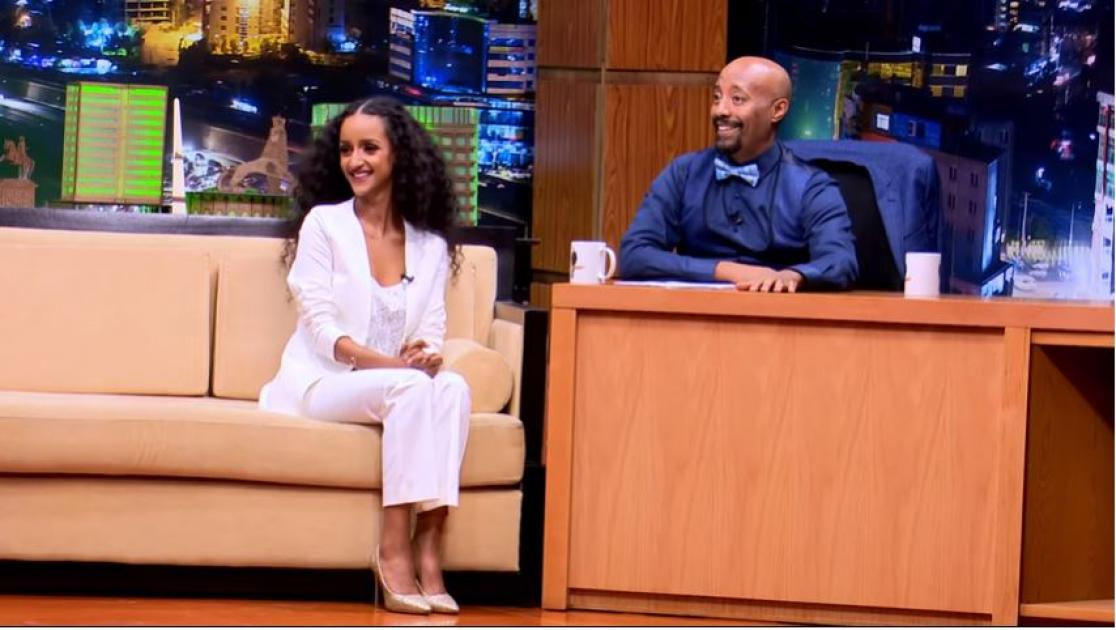 Artist Sara T with Seifu on EBS