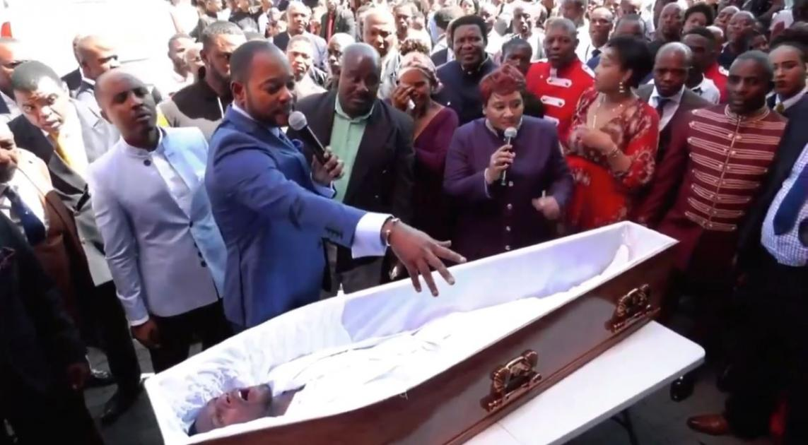 A SELF-styled prophet who claimed to bring a man back from the dead in a viral video stunt is being