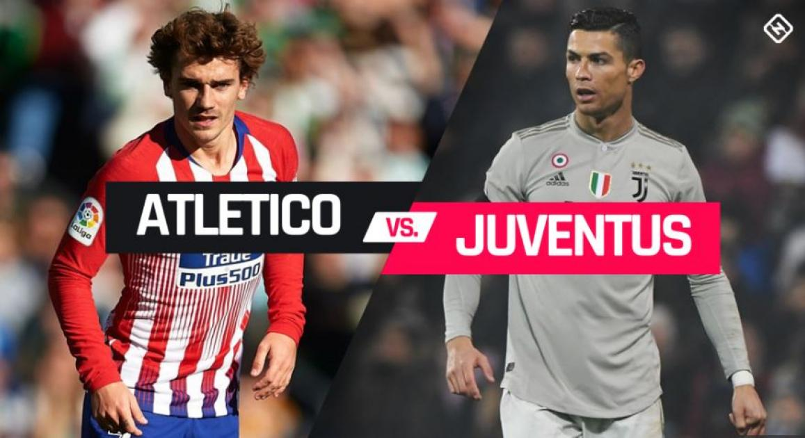 Two European heavyweights meet in the Champions League 16 stage with Atletico Madrid hosting Juventu