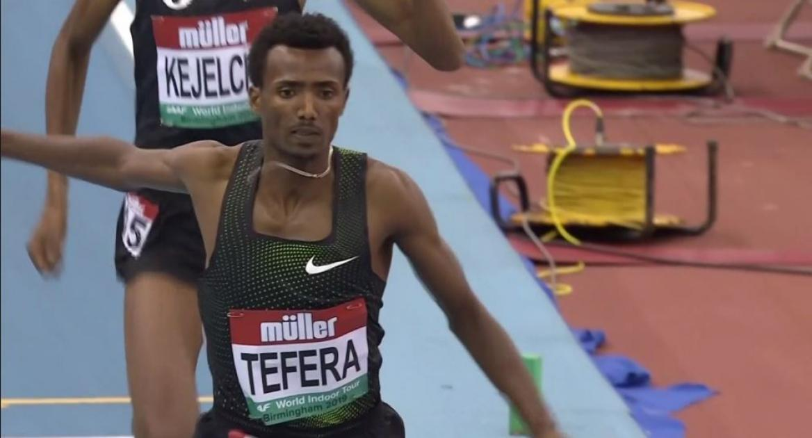 Samuel Tefera sets indoor world record in 1,500 meters