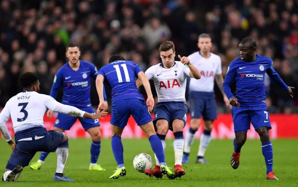 Chelsea will host Tottenham in the second leg of the League Cu